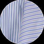 Blue White Stripes Cotton