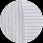 White Blue Stripes Linen